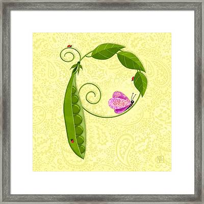 P Is For Peas In A Pod Framed Print