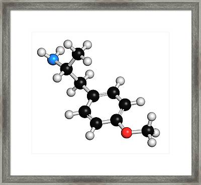 P-methoxyamphetamine Hallucinogenic Drug Framed Print