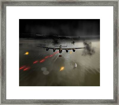 P-popsie Attacking The Mohne Dam Framed Print by Gary Eason