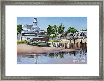 P' Town Boat Works Framed Print