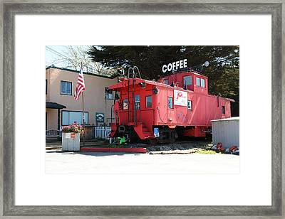 P Town Cafe Caboose Pacifica California 5d22659 Framed Print by Wingsdomain Art and Photography