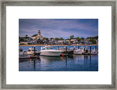 P-town Harbor Framed Print by Susan Candelario