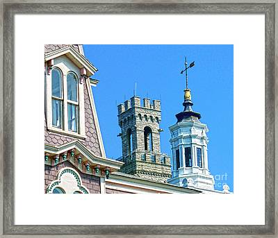 P-town Towers Framed Print