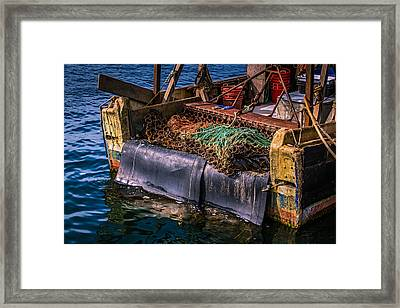 P-towns Fishing Troller  Framed Print by Susan Candelario