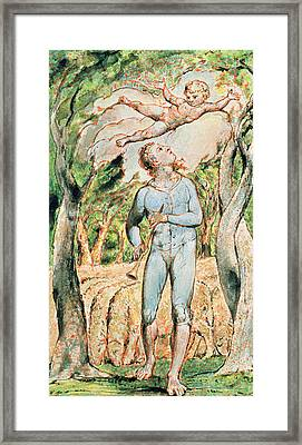 P.124-1950.ptl Frontispiece To Songs Framed Print by William Blake