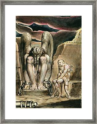 P.127-1950.pt1 Albions Angel Framed Print by William Blake