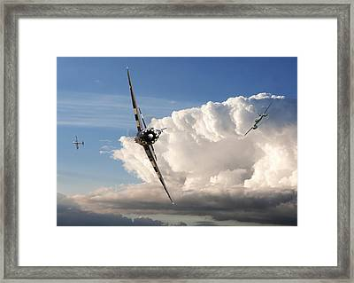 P47 - Me262 The Perched Advantage Framed Print by Pat Speirs