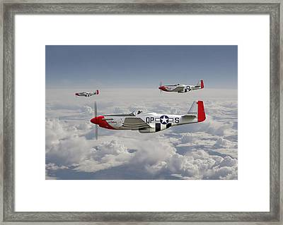 P51 - 334th Fighting Eagles Framed Print