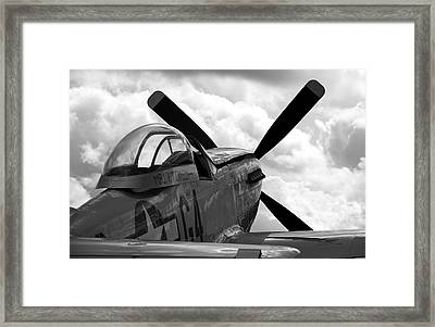 P51 In Clouds Framed Print by Remy NININ