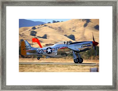 P51 Merlin's Magic On Take-off Roll Framed Print