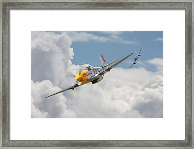 P51 Mustang And Me 262 Framed Print