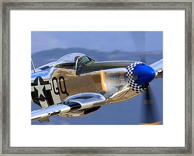 Grim Reaper P51 Mustang At Salinas Air Show Framed Print