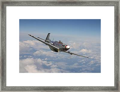 P51 Mustang - Big Beautiful Doll Framed Print by Pat Speirs