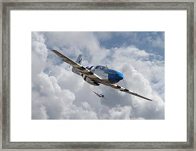 P51 Mustang - D-day Top Cover Framed Print by Pat Speirs
