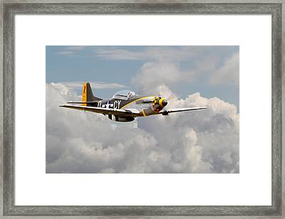 P51 Mustang - Miss Velma Framed Print by Pat Speirs