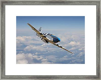 P51 Mustang - Symphony In Blue Framed Print by Pat Speirs