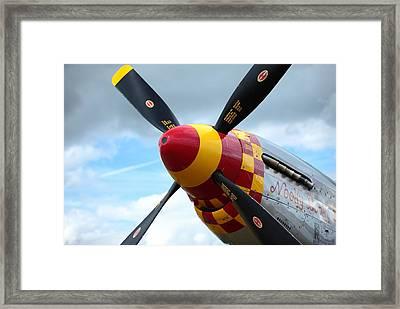 P51 Propeller Framed Print by Remy NININ