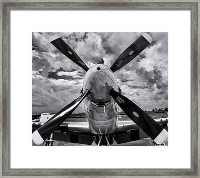 P51 Mustang Propeller Framed Print by Roger Wedegis