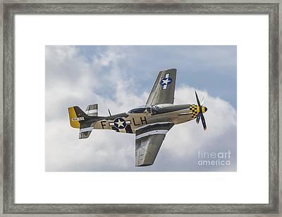 P51d Mustang 'janie' Framed Print by Simon Pocklington