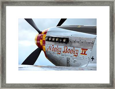 P51's Heart Framed Print by Remy NININ