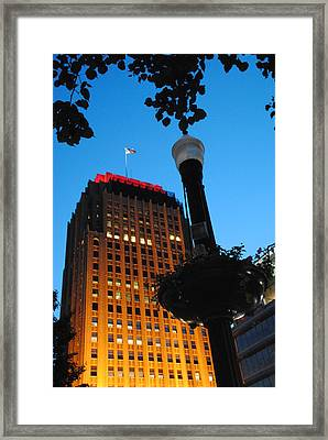 Pa Power Light And Allentown Symbol Framed Print