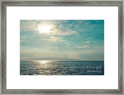 Paako Beach Iridescence Framed Print by Sharon Mau