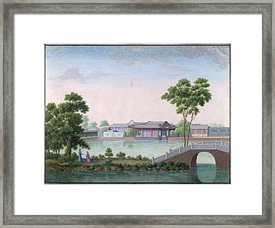 Paan Khaquar Gardens Framed Print