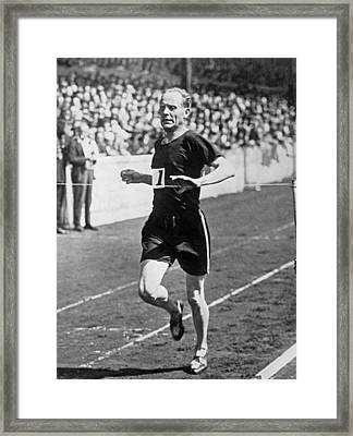 Paavo Nurmi, The flying Finn Framed Print