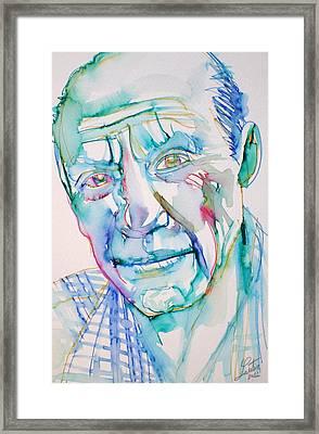 Pablo Picasso- Portrait Framed Print by Fabrizio Cassetta