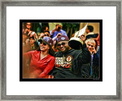 Pablo Sandoval World Series Vip 2012 Framed Print by Blake Richards