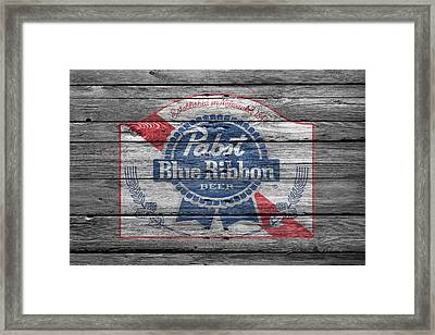 Pabst Blue Ribbon Beer Framed Print