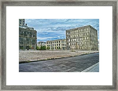 Pabst Brewery Abandonded Seen Better Days Pabst In Milwaukee Blue Ribbon Beer Framed Print by Lawrence Christopher