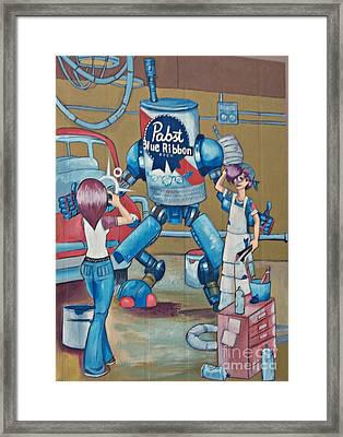 Pabst Mural In The Loop Framed Print
