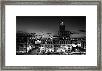 Pabst U-turn Monochrome Framed Print