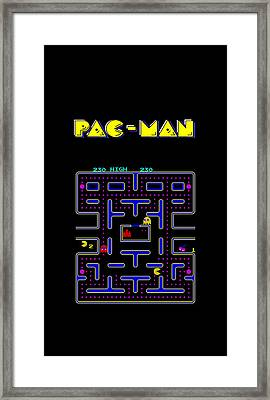 Pac Man Phone Case Framed Print by Mark Rogan