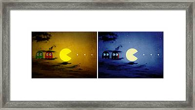 Pac-scape Orizontal Diptych Framed Print