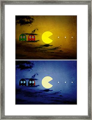 Pac-scape Vertical Diptych Framed Print