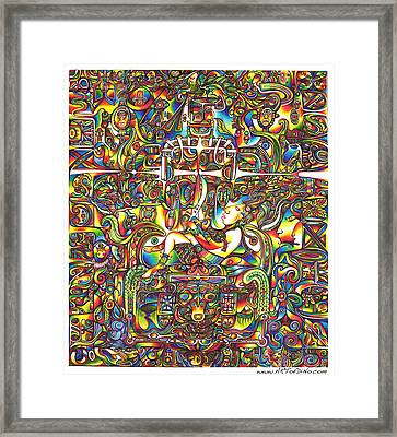 Pacal Framed Print by diNo