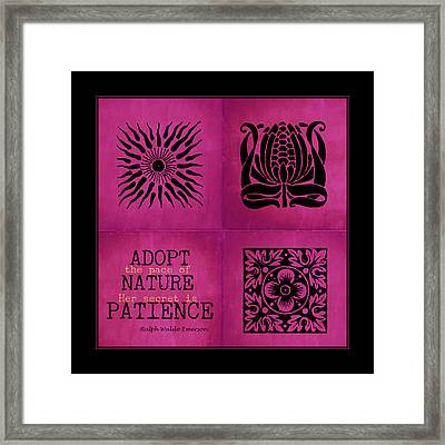 Pace Of Nature Framed Print by Bonnie Bruno