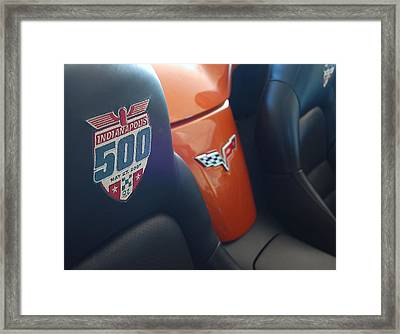 Pace Ride - Indianapolis 500 Corvette Framed Print by Steven Milner
