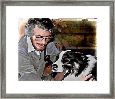 Pachek And Levi Unconditional Love Framed Print by Pachek