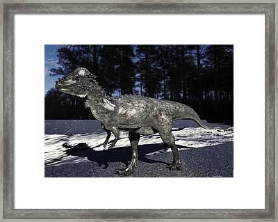 Pachycephalosaurus Framed Print