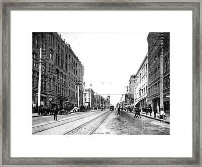 Pacific Avenue Tacoma 1907 Framed Print