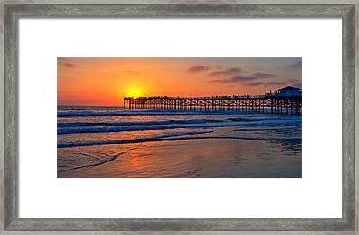 Pacific Beach Pier - Ex Lrg - Widescreen Framed Print