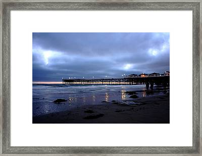 Pacific Beach Pier Framed Print by Carrie Warlaumont