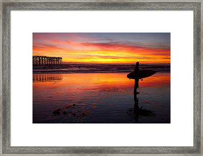 Pacific Beach Was On Fire Tonight Framed Print by Nathan Rupert