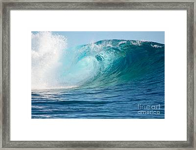 Pacific Big Wave Crashing Framed Print