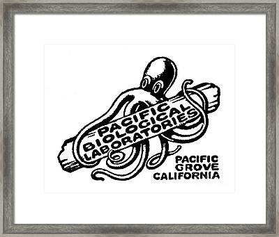 Pacific Biological Laboratories Of Pacific Grove Circa 1930 Framed Print
