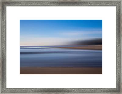 Pacific Coast Abstract Framed Print