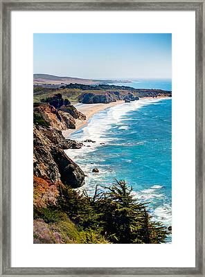 Pacific Coast Framed Print by Aron Kearney